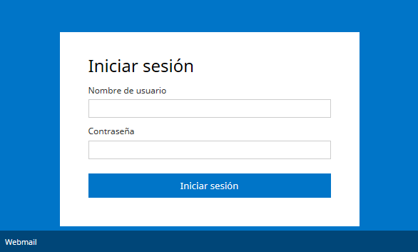 Cambio de contraseña webmail